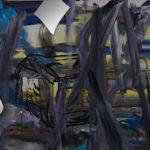 Place I 2017 mixed media on canvas 80x60